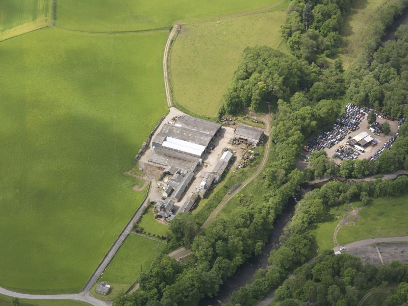 Oblique aerial view of Dalcrue House, taken from the NE.