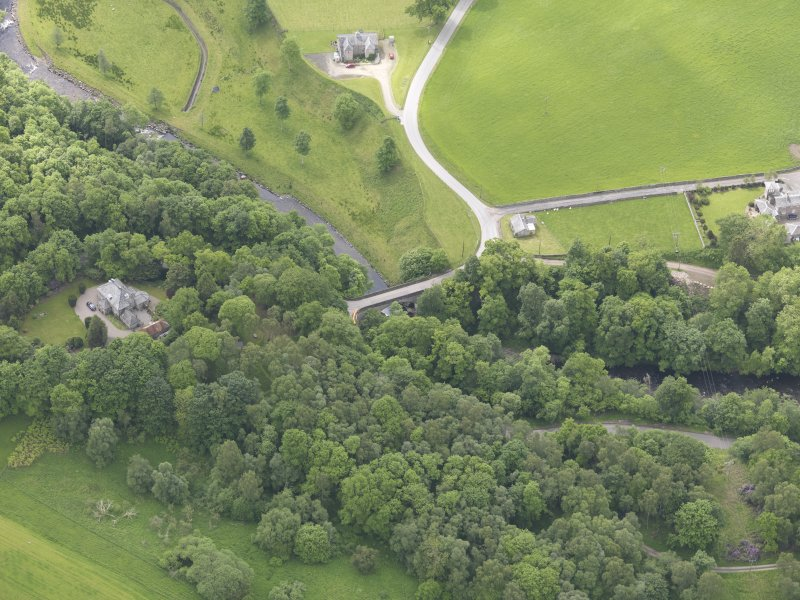 Oblique aerial view of Dalcrue Bridge, taken from the NNE.