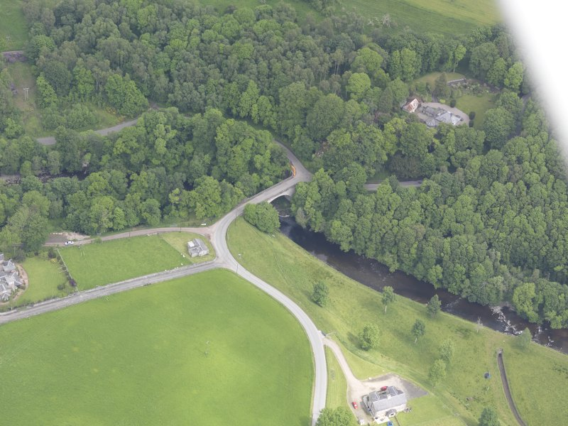 Oblique aerial view of Dalcrue Bridge, taken from the SSW.