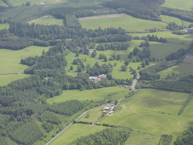 Oblique aerial view of Doune Park Country House, taken from the SW.