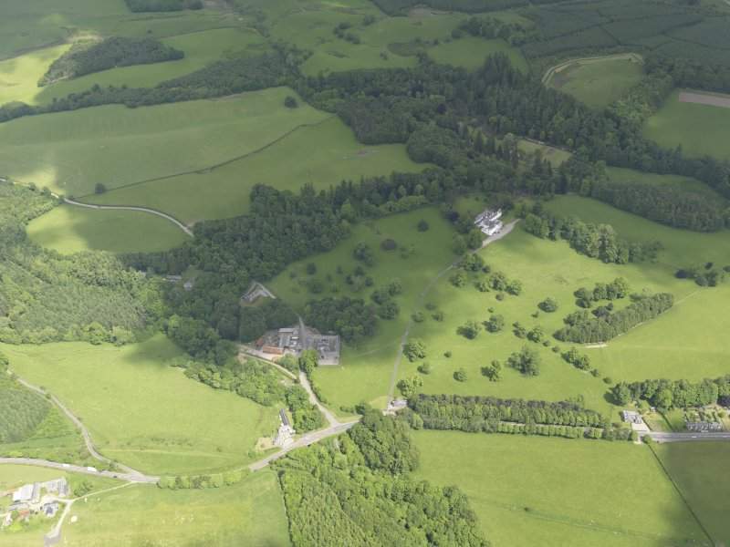 General oblique aerial view of Doune Park Country House estate, taken from the SSW.