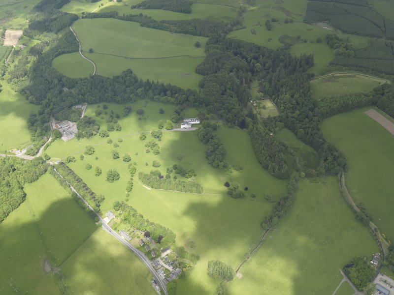General oblique aerial view of Doune Park Country House estate, taken from the S.