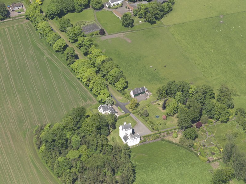 Oblique aerial view of Aldie Castle, taken from the S.