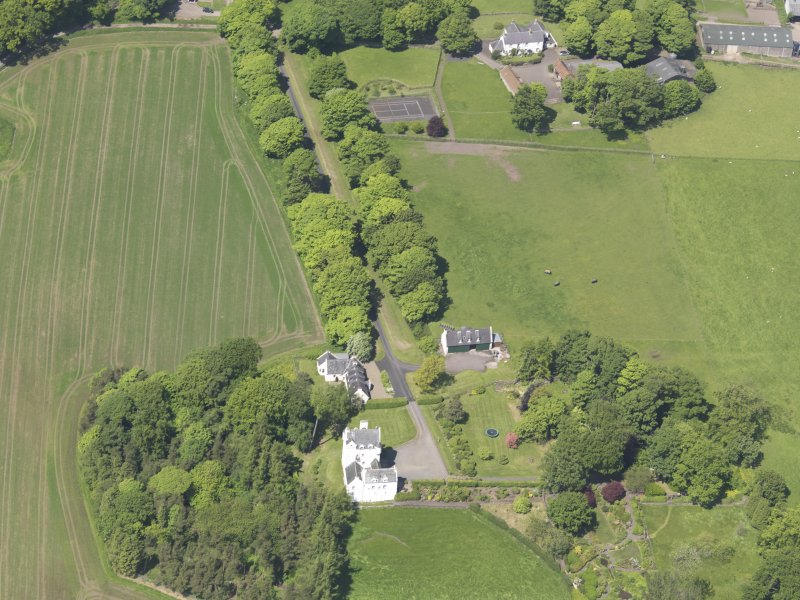 Oblique aerial view of Aldie Castle, taken from the SSE.