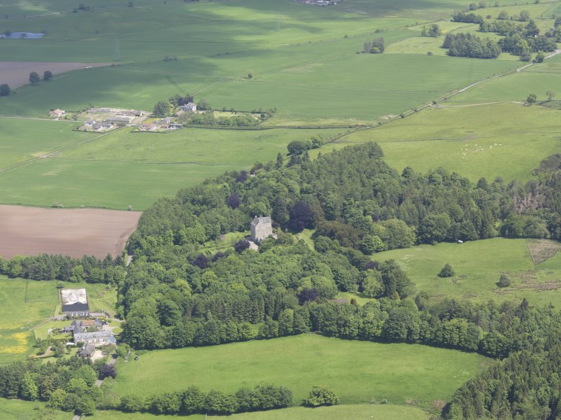 General oblique aerial view of Cleish Castle, taken from the W.