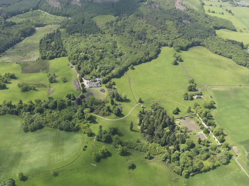 General oblique aerial view of Blair Adam Country House, taken from the E.