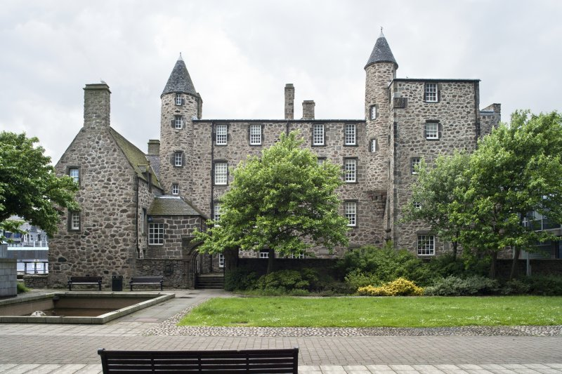 View of Provost Skene's House from St Nicholas House courtyard.