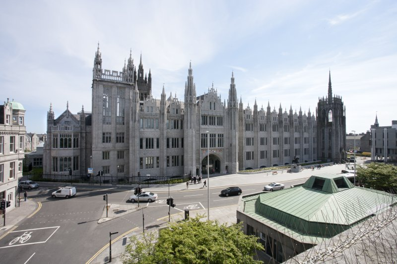 View of Marischal College from Upperkirkgate end of 3rd floor terrace of St Nicholas House.