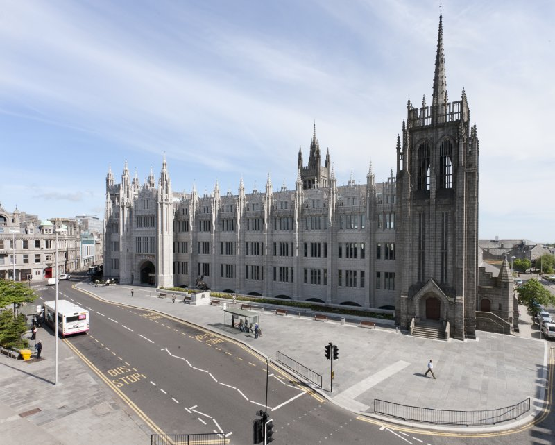 View of Marischal College from 3rd floor terrace of St Nicholas House.