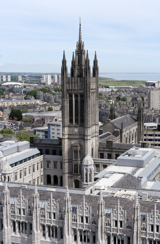 View from south of Marischal College Kirk spire, taken from St Nicholas House.