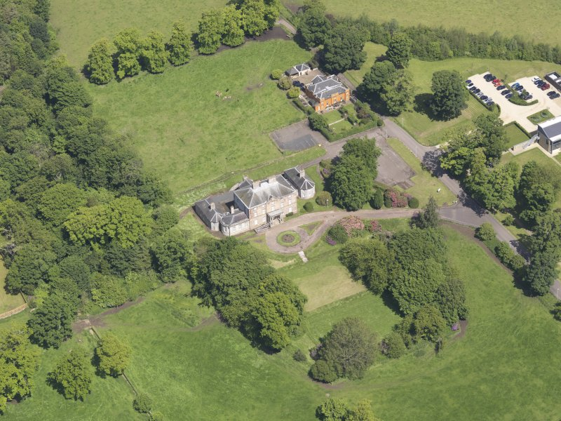 Oblique aerial view of Alderston House, taken from the S.