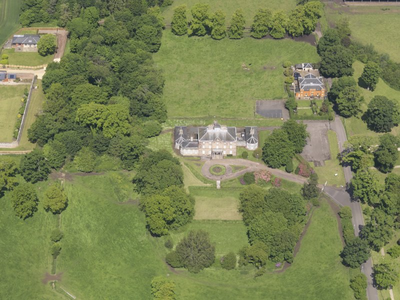 Oblique aerial view of Alderston House, taken from the SSE.