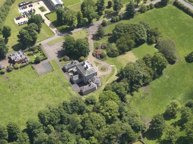 Oblique aerial view of Alderston House, taken from the W.