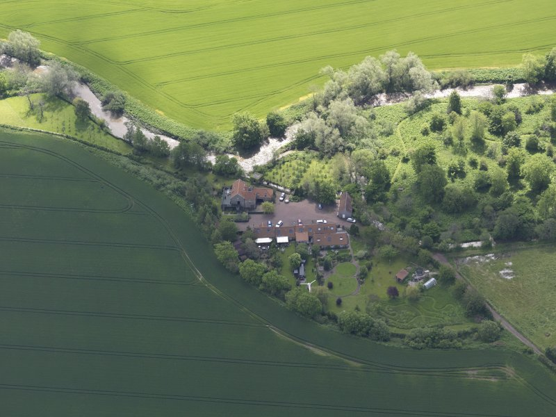 Oblique aerial view of Sandy's Mill, taken from the NNW.