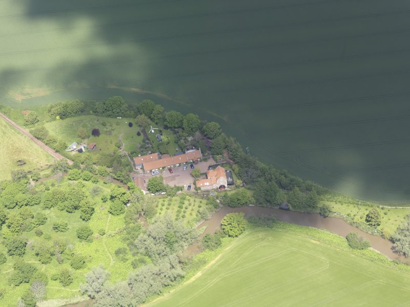 Oblique aerial view of Sandy's Mill, taken from the SSE.