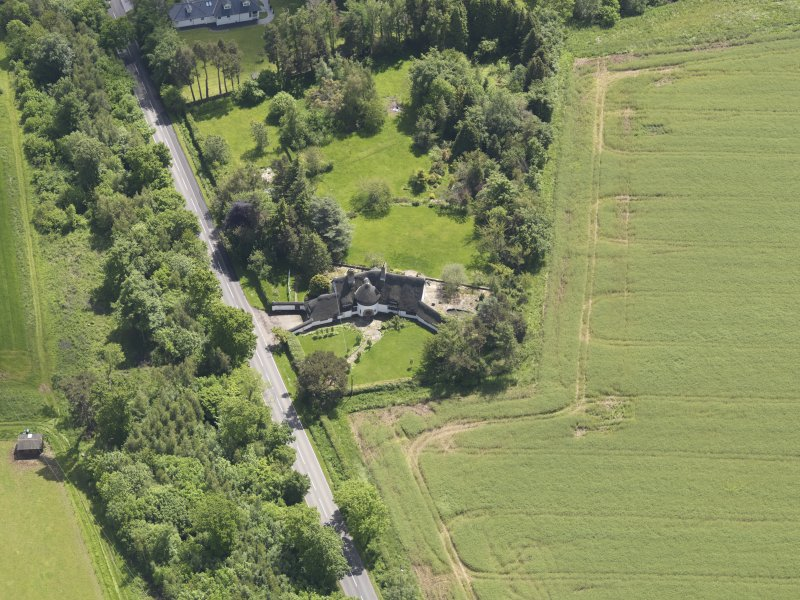 Oblique aerial view of Bolton Muir Country House, taken from the NW.