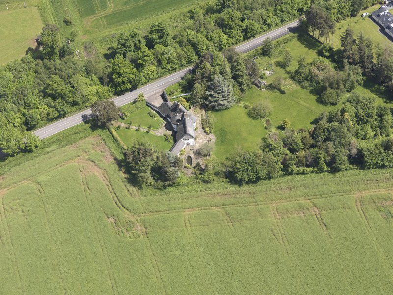 Oblique aerial view of Bolton Muir Country House, taken from the SW.
