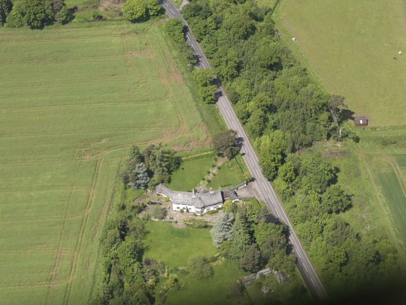 Oblique aerial view of Bolton Muir Country House, taken from the SSE.