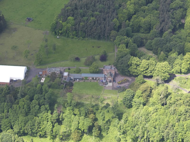 Oblique aerial view of Whittingehame Tower, taken from the SE.