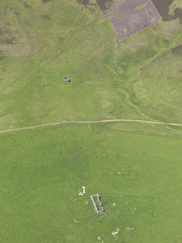 Oblique aerial view of Penshiel Grange, taken from the ESE.