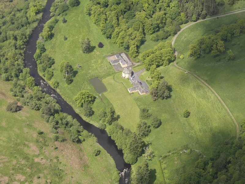 Oblique aerial view of The Retreat Estate, taken from the SSE.
