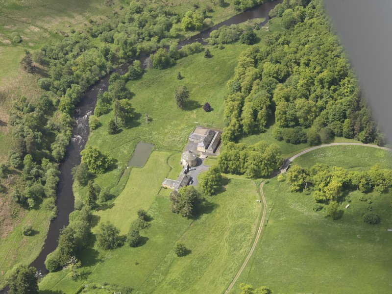 Oblique aerial view of The Retreat Estate, taken from the E.