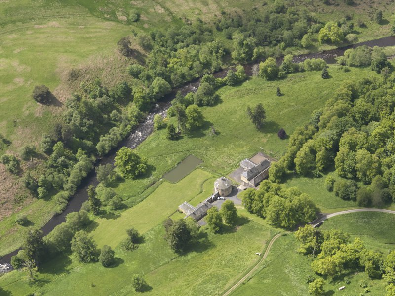 Oblique aerial view of The Retreat Estate, taken from the ENE.