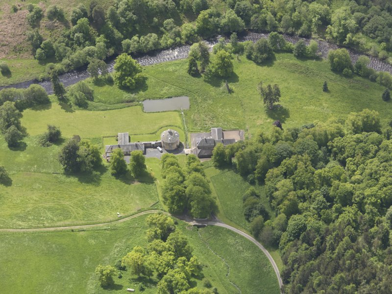 Oblique aerial view of The Retreat Estate, taken from the NNE.