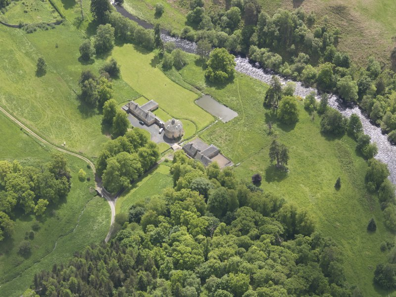 Oblique aerial view of The Retreat Estate, taken from the N.
