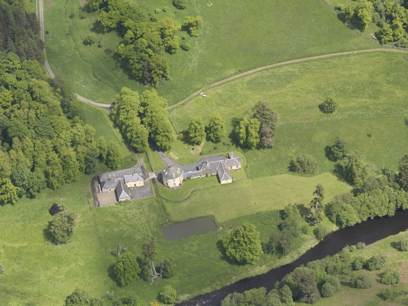 Oblique aerial view of The Retreat Estate, taken from the WSW.
