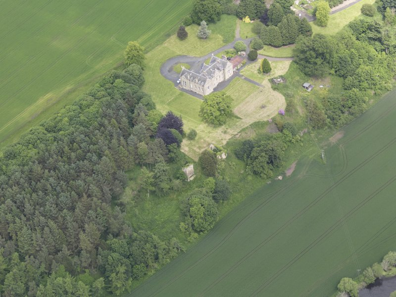 Oblique aerial view of Blanerne Castle, taken from the SW.