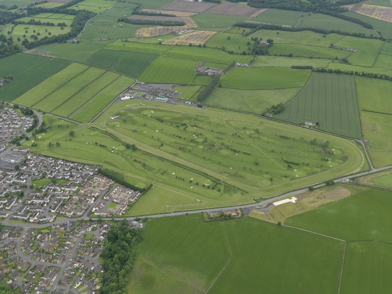 Oblique aerial view of Kelso Race Course and Golf Course, taken from the SE.