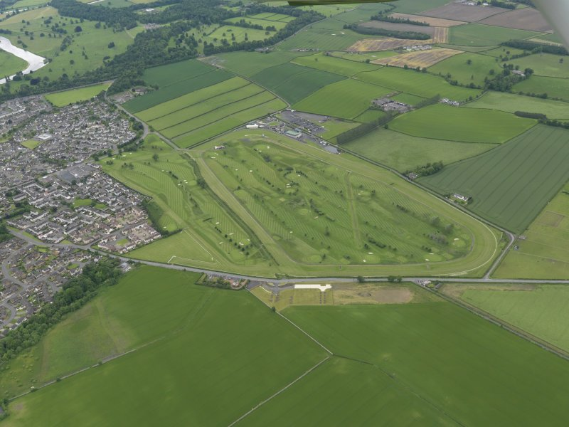 Oblique aerial view of Kelso Race Course and Golf Course, taken from the E.