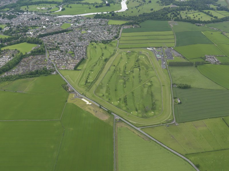 Oblique aerial view of Kelso Race Course and Golf Course, taken from the NE.