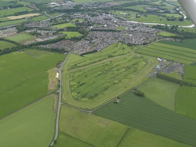 Oblique aerial view of Kelso Race Course and Golf Course, taken from the NNW.