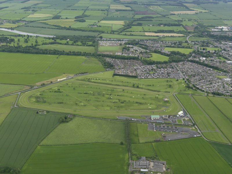 Oblique aerial view of Kelso Race Course and Golf Course, taken from the WNW.