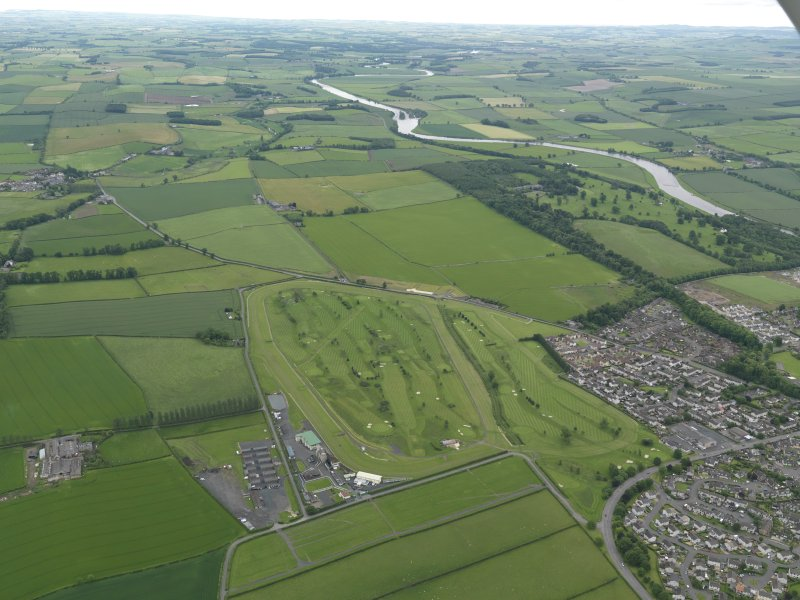 Oblique aerial view of Kelso Race Course and Golf Course, taken from the WSW.