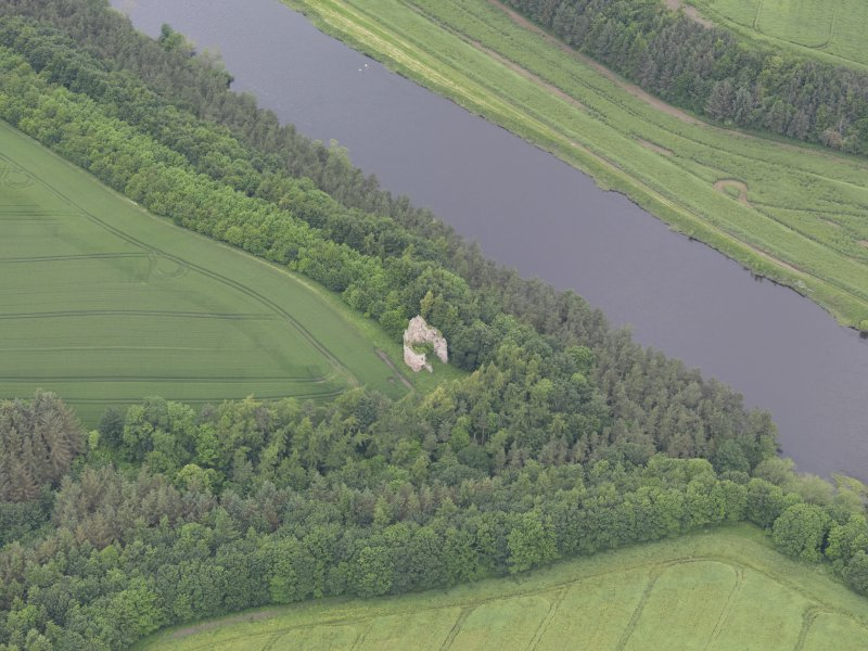 Oblique aerial view of Littledean Tower, taken from the SSE.