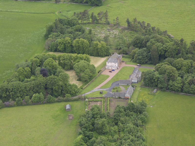 Oblique aerial view of Wedderlie House, taken from the E.