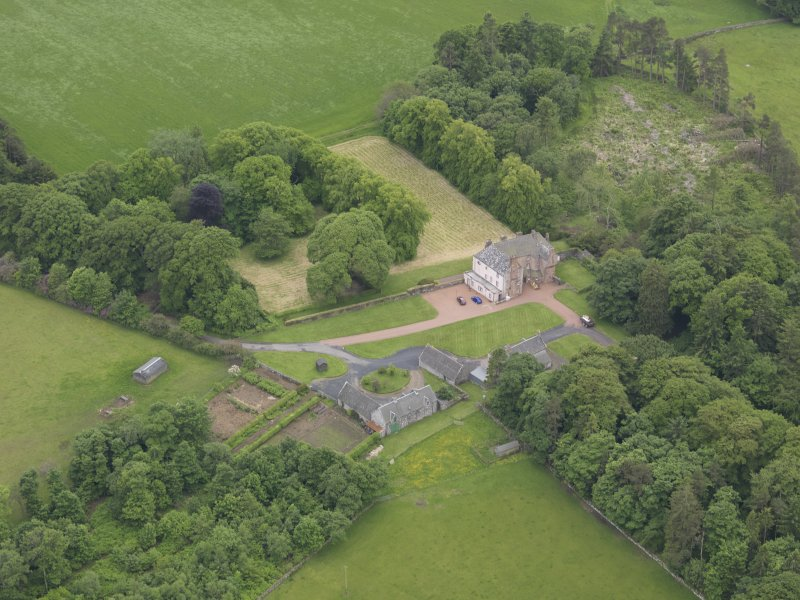 Oblique aerial view of Wedderlie House, taken from the NE.