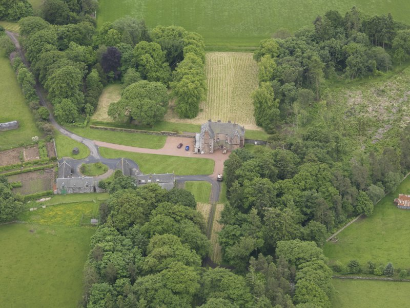 Oblique aerial view of Wedderlie House, taken from the N.
