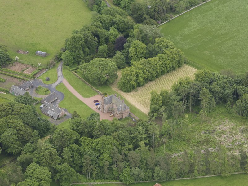 Oblique aerial view of Wedderlie House, taken from the NW.