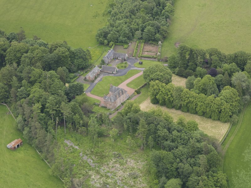 Oblique aerial view of Wedderlie House, taken from the W.