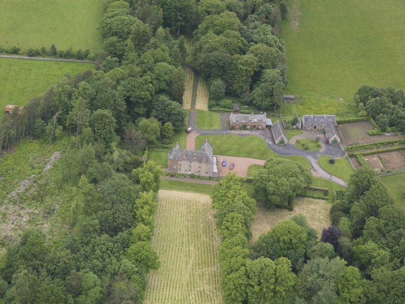 Oblique aerial view of Wedderlie House, taken from the S.