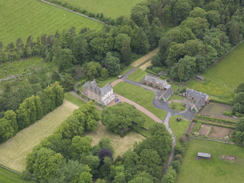 Oblique aerial view of Wedderlie House, taken from the SSE.