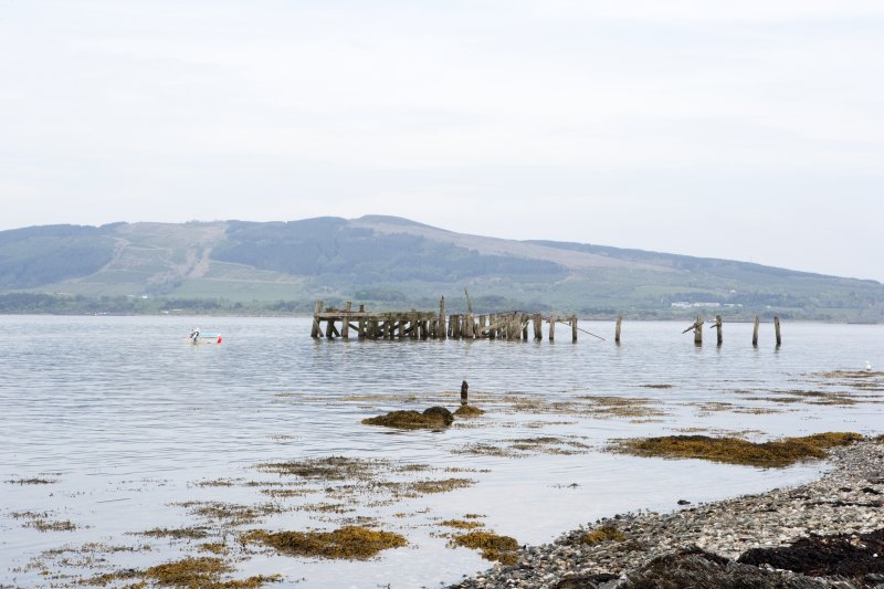 General view of Former Steamer Pier, Port Bannatyne, Bute, from W