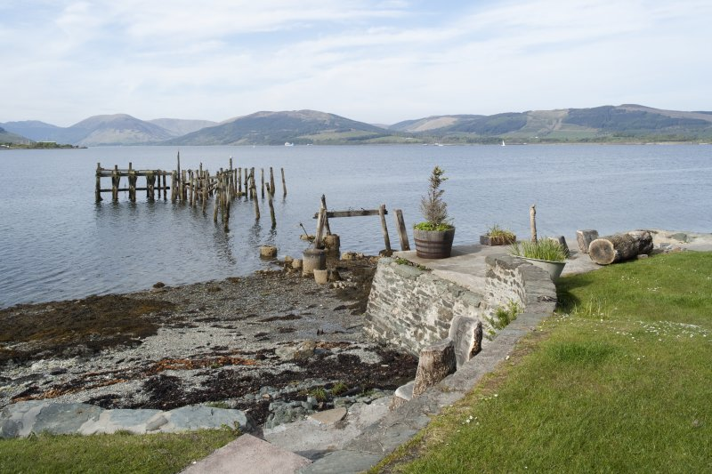 View of Former Steamer Pier, Port Bannatyne, Bute, from SW