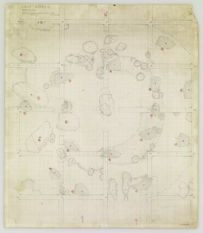 Excavation plan. Title: Croftmoraig