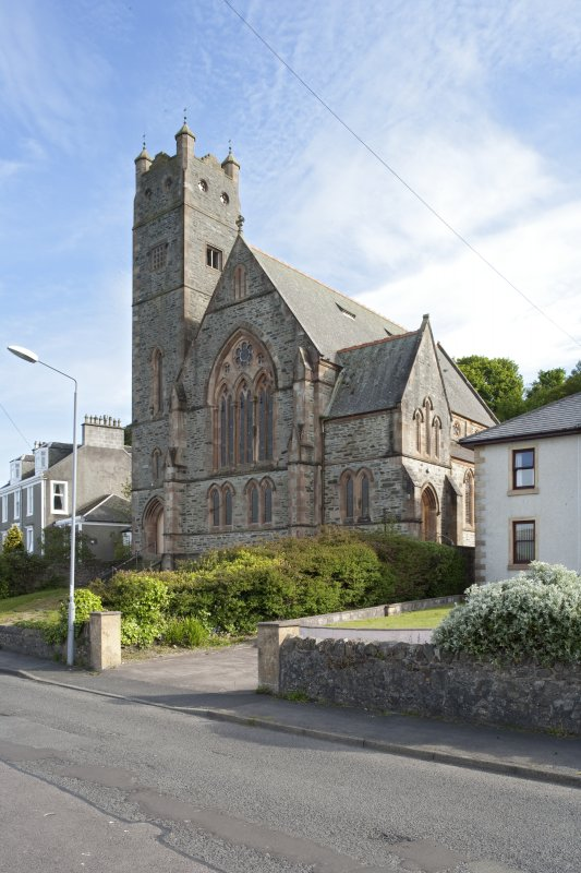 General view of North Bute Parish Church, Shore Road, Port Bannatyne, Bute, from N