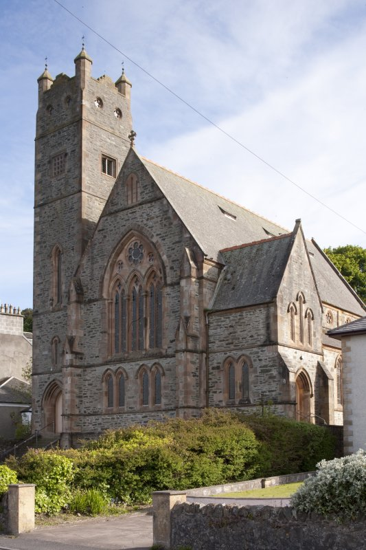 View of North Bute Parish Church, Shore Road, Port Bannatyne, Bute, from N